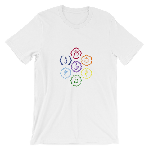 7 chakras graphic tee for mindfulness and meditation