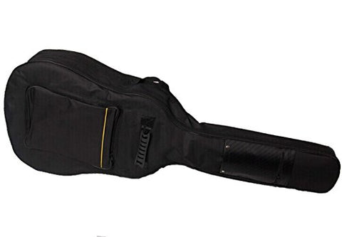 Faswin 41 Inch Dual Adjustable Shoulder Strap Acoustic Guitar Gig Bag - Black