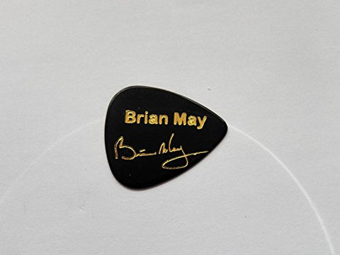 BRIAN MAY QUEEN signature stamped promo collector plectrum guitar pick 0.71mm(PLAIN BLACK)