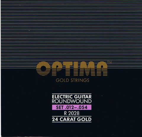 Optima 24 K Gold Plated Electric Guitar Strings .012-.054