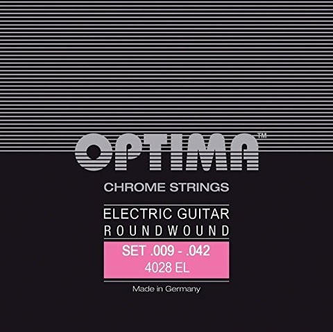 Optima Strings For Electric Guitar Chrome strings round wound