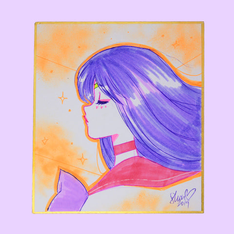 Sailor Mars Original Shikishi Illustration