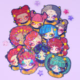 Cosmeek Zodiac Names Sparkly Stickers (12 designs)