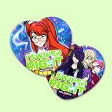#Blessed Sparkly Heart Buttons (2 designs)
