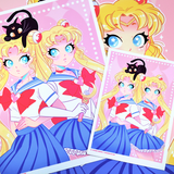 Sailor Cutie Art Print (Signed)