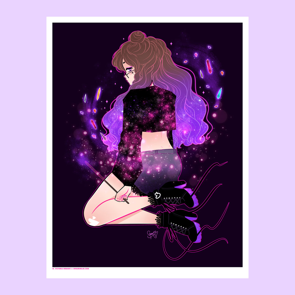 Crystal Hunter Art Print (Signed)