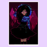 Magical Curls Art Print (Signed)
