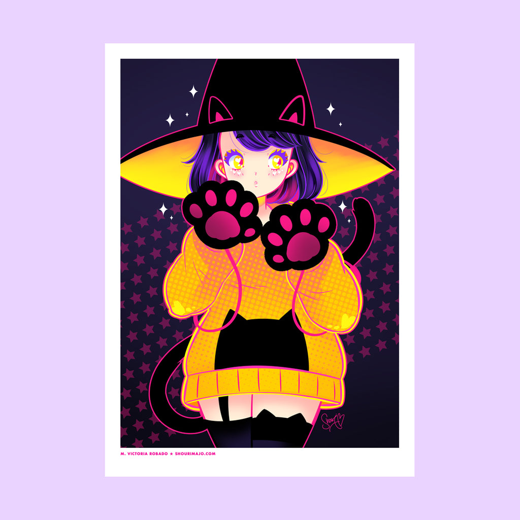 Neon Meow Art Print (Signed)