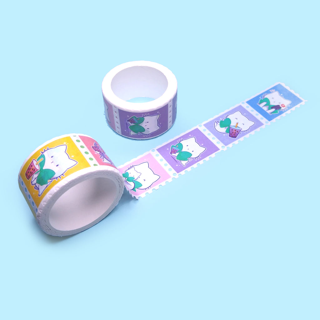 Bubble Kittea Stamp Washi Tape