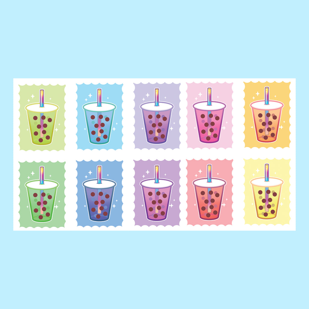 Bubble Tea Stamp Washi Tape
