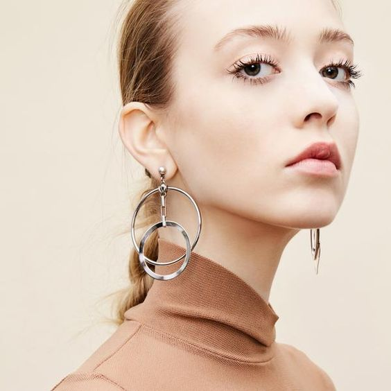 Biko Silver Eclipse Hoops
