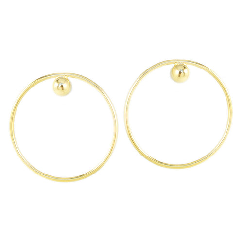 Biko Earrings Gold Hoops