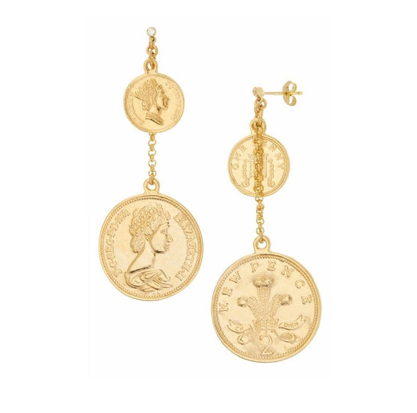 Shashi | Selena Coin Drop Earrings