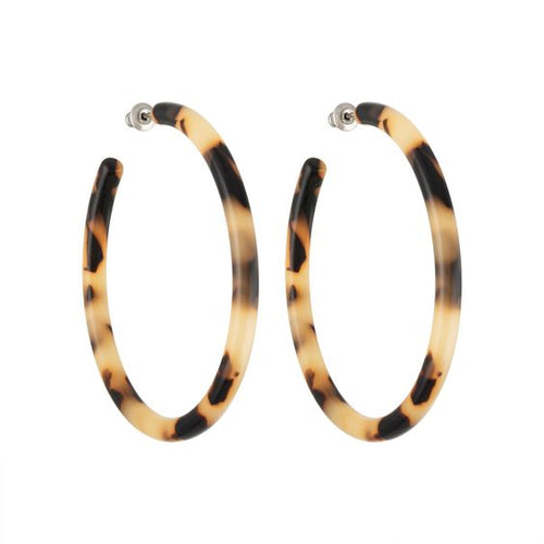 Machete | Large Hoops - Blonde Tortoise