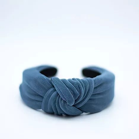 Femme Faire | Textured Knit Headband - Steel Blue