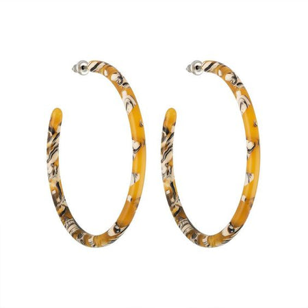 Machete - Midi Square Hoops in Classic Tortoise