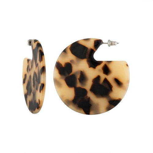 Machete Clare Disk Earrings  Blonde Tortoise