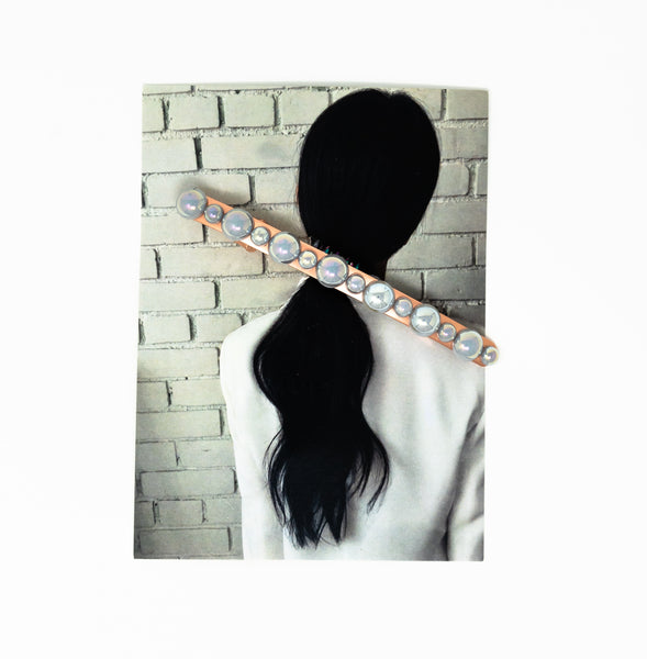 Hair Is Fashion - Rose Gold Pearl Bar