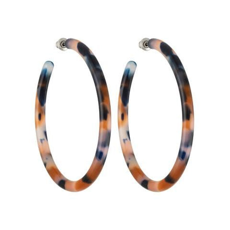 Machete | Large Hoops - Abalone