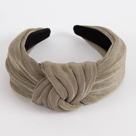 Femme Faire | Textured Knit Headband - Taupe