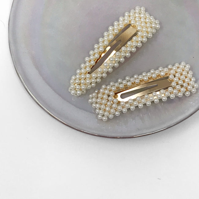 Pearl Barrettes- Oversized