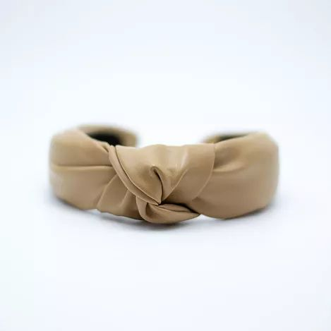 Femme Faire | Vegan Leather Knotted Headband - Khaki