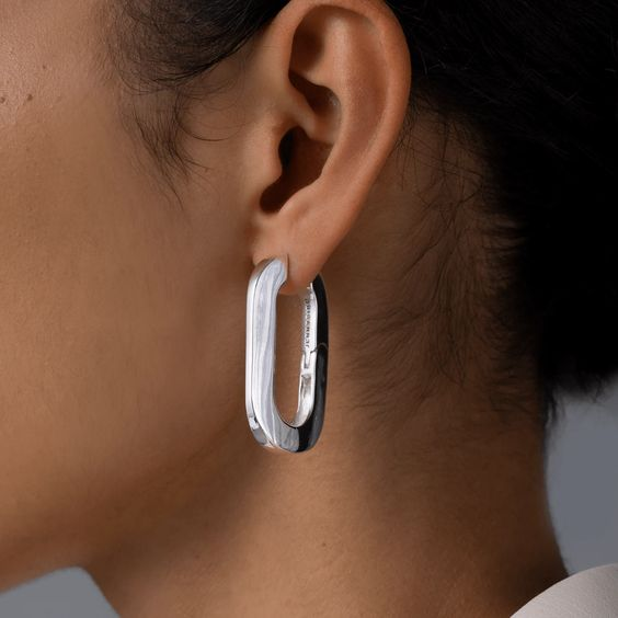 Jenny Bird | Mega U-Link Earrings - Silver