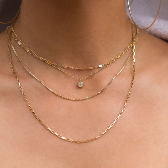 Leah Alexandra Minor Necklace in Moonstone