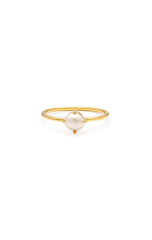 Leah Alexandra | Compass Ring - Pearl