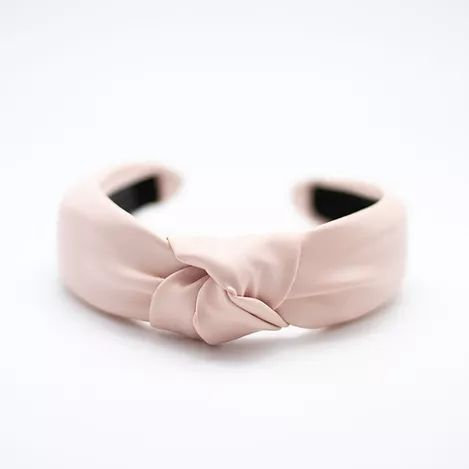 Femme Faire | Vegan Leather Knotted Headband - Pale Pink