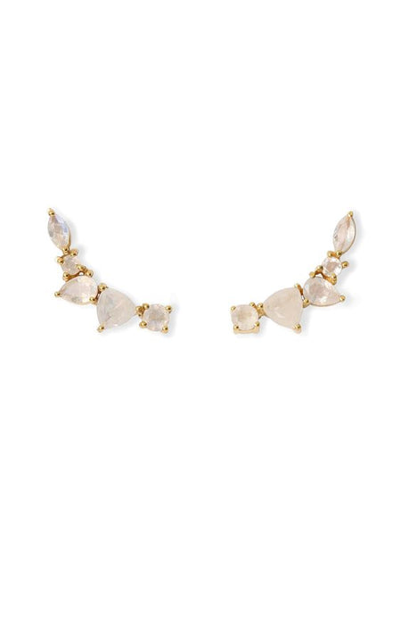 Melanie Auld | Starburst Necklace - Gold/ Moonstone