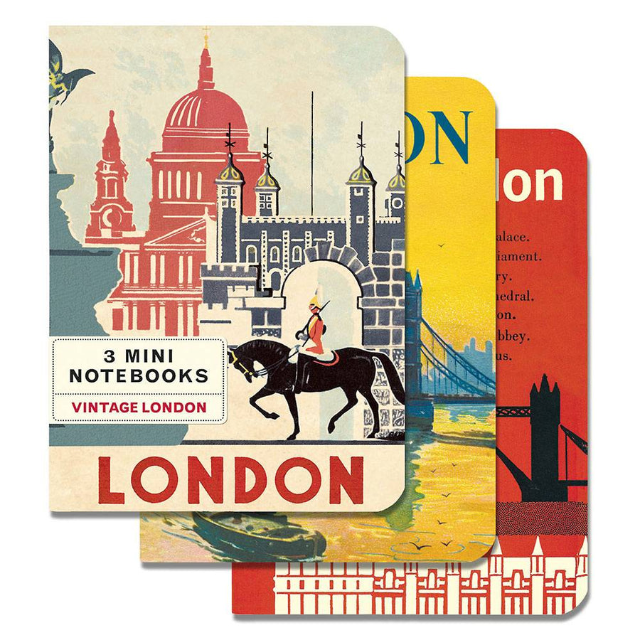 3 Mini Notebooks - London