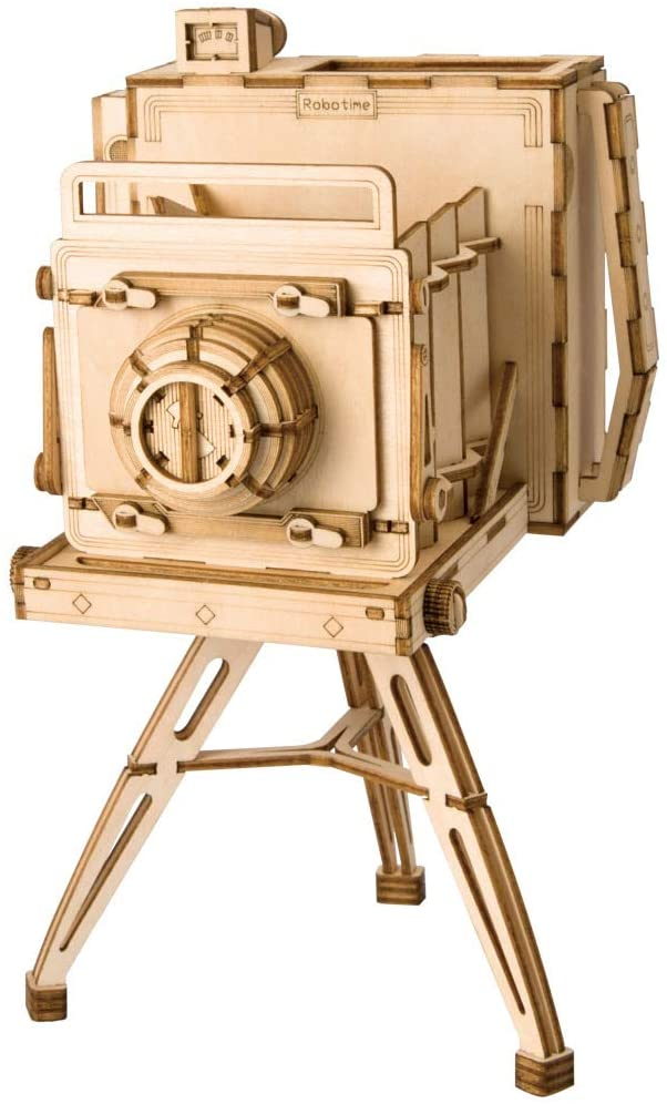 Rolife Camera 3D Wooden Puzzle Assemble Toy