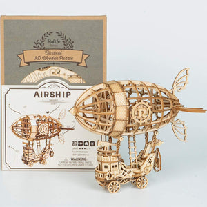 Rolife Air Ship 3D Wooden Puzzle Assemble Toy