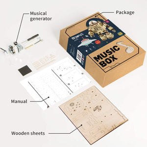 ROKR Robot DIY Wooden Music Box Kit