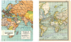 Notebook Set - Vintage Maps