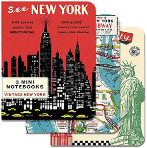 3 Mini Notebooks - New York