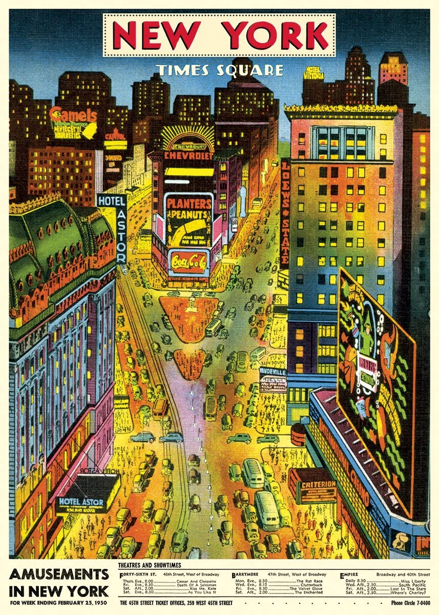 New York Times Square Retro Poster