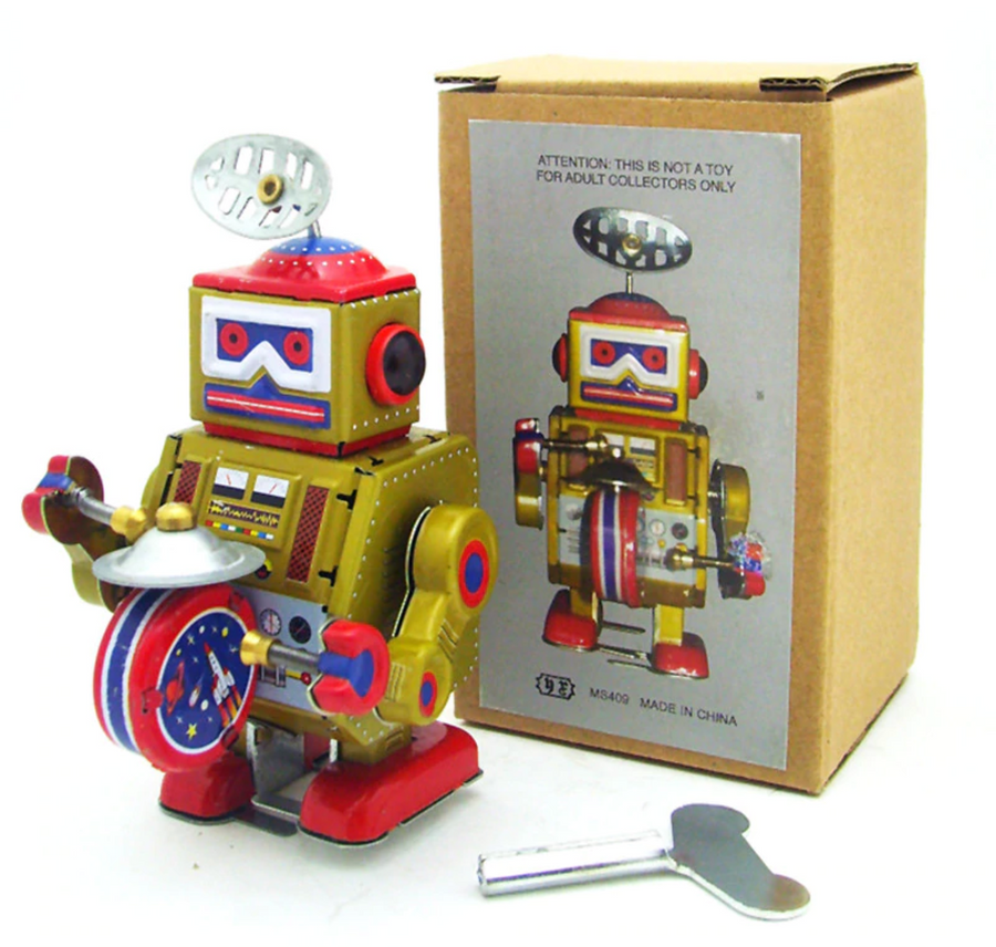 Metal Vintage Windup - Robot Model