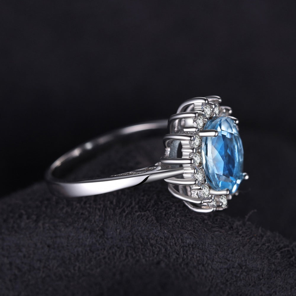 jewelry cubic ring engagement palace zirconia silver round jewelrypalace sterling rings classic product promise wedding simple