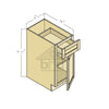 B09 - Espresso Shaker Single Door Base Cabinet