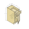 B15 - Espresso Shaker Single Door Base Cabinet