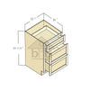VDB15 - Toffee Shaker Vanity Drawer Base Cabinet