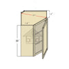 WDC243012 - Bevel Edge Grey Wall Diagonal Corner Cabinet