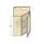 WDC273012 - Bevel Edge Grey Wall Diagonal Corner Cabinet