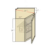 WDC274012 - Bevel Edge Grey Wall Diagonal Corner Cabinet