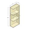 WES0930L - Espresso Shaker Wall End Shelf