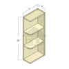 WES0930L - Toffee Shaker Wall End Shelf