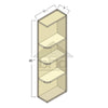 WES0940R - Cherry Shaker Java Wall End Shelf