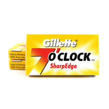 Gillette 7 O'Clock Sharpe Edge Double Edge Safety Razor Blades 3 Packs